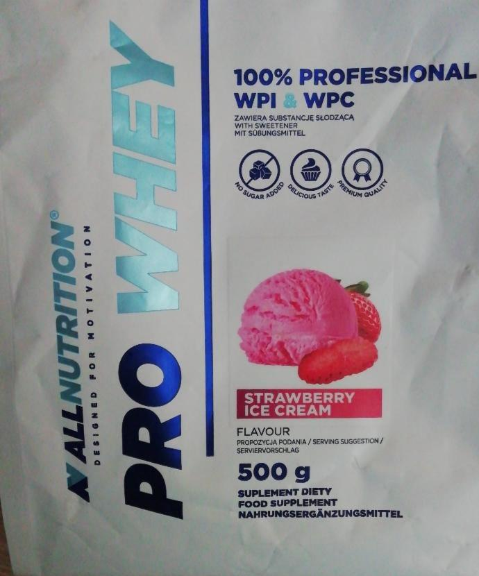 Fotografie - ALLNUTRITION PRO WHEY Strawberry Ice Cream