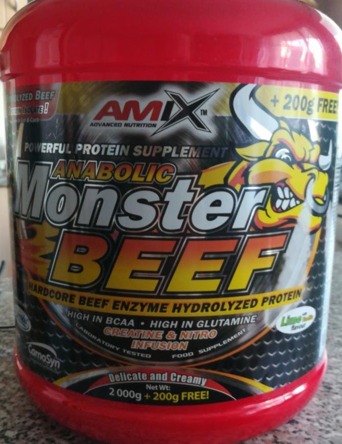 Fotografie - Anabolic Monster Beef protein Vanilla-Lime Amix Nutrition