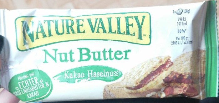 Fotografie - Nut Butter Kakao Haselnuss Nature Valley