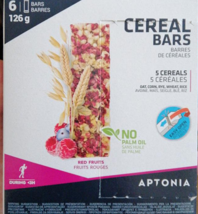 Fotografie - Cereal bars Red Fruit Aptonia