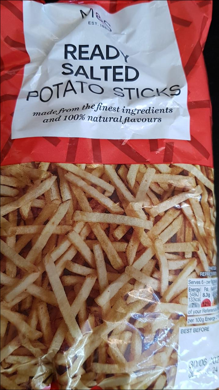 Fotografie - Ready salted potato sticks Marks & Spencer