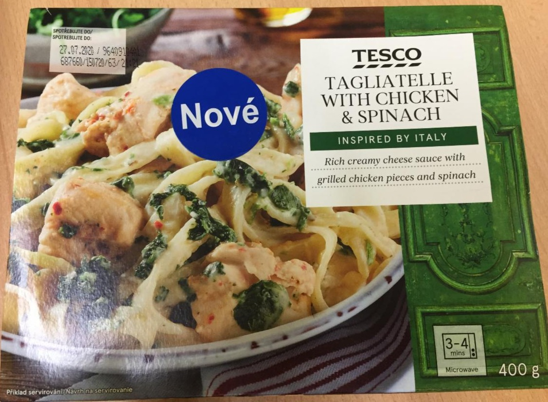 Fotografie - Tagliatelle with Chicken & Spinach Tesco