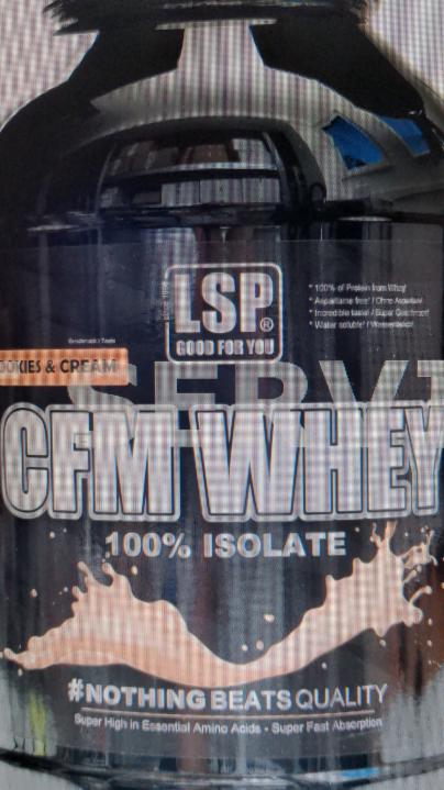 Fotografie - LSP 100% Whey isolate cookies cream