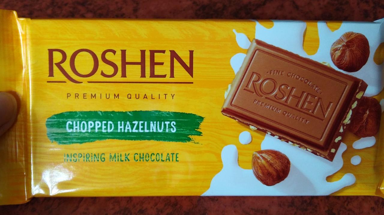 Milk Chocolate with chopped Hazelnuts - Roshen