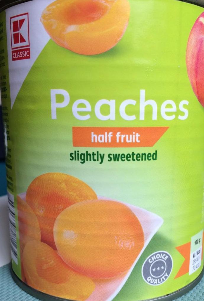 Fotografie - Peaches half fruit slightly sweetened K-Classic